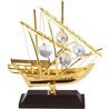 24K Gold Plated Arabian Fishing Boat